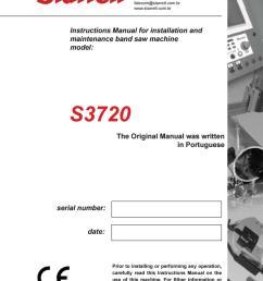starrett s3720 bandsaw machine manual [ 1059 x 1497 Pixel ]