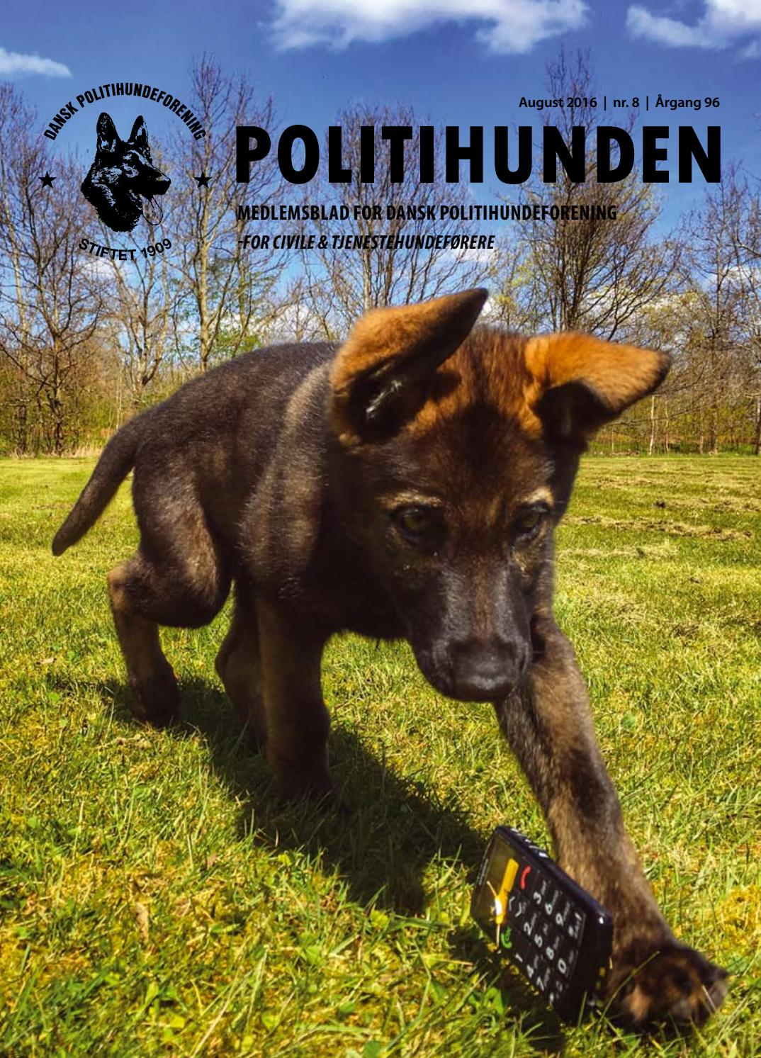 Politihunden August 2016 By Side Om Side Aps Issuu