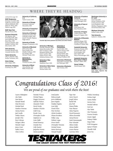 Scarsdale Inquirer Gradation 2016 by The Scarsdale