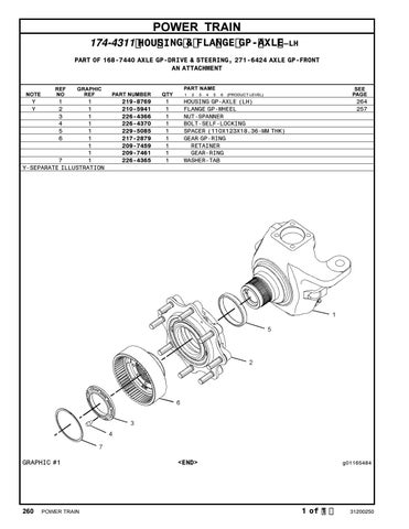 Parts Manual CAT TH220B Telehandler S/N TBF00100 thru