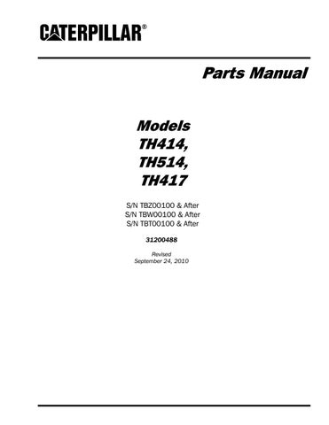 Parts Manual ModelsTH414,TH514,TH417 by Ahmadfikry Work