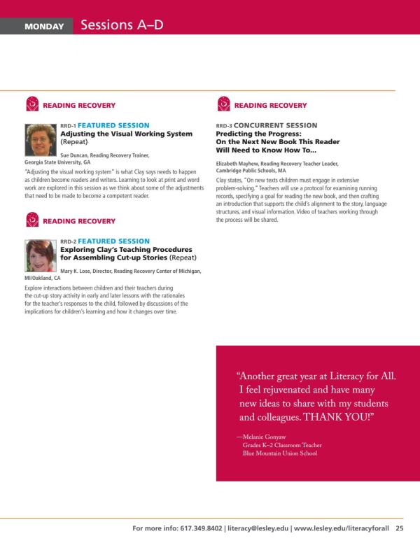 2016 Literacy Conference Brochure Center