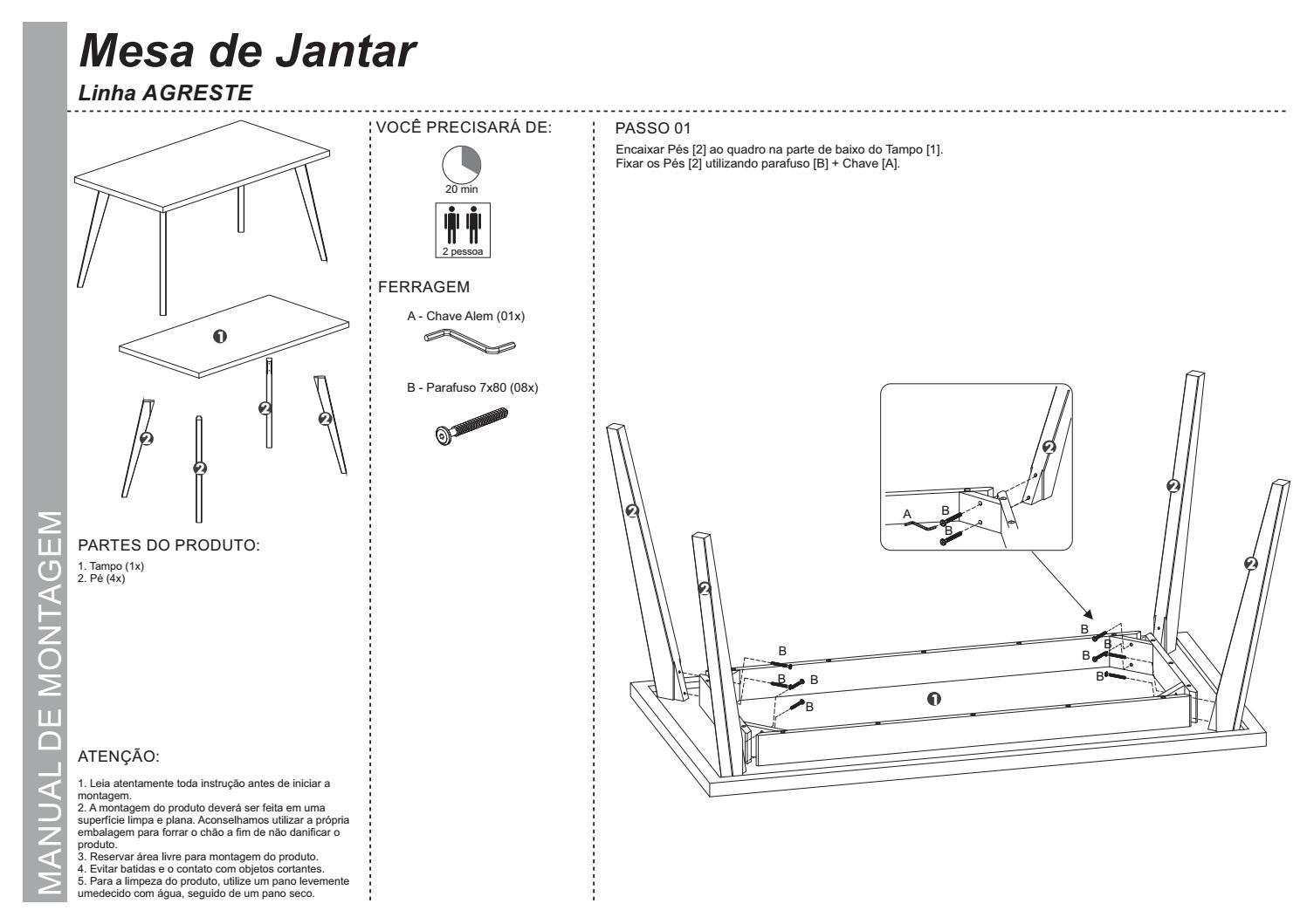 Manual de montagem linha texas mesas 176 177 178 by