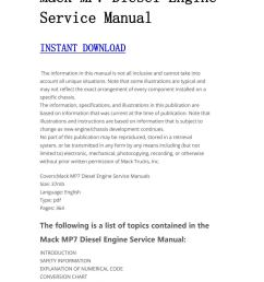 mack diesel engine service manual manualtrucks issuu jpg 1059x1497 mp7 mack truck engines diagram [ 1059 x 1497 Pixel ]