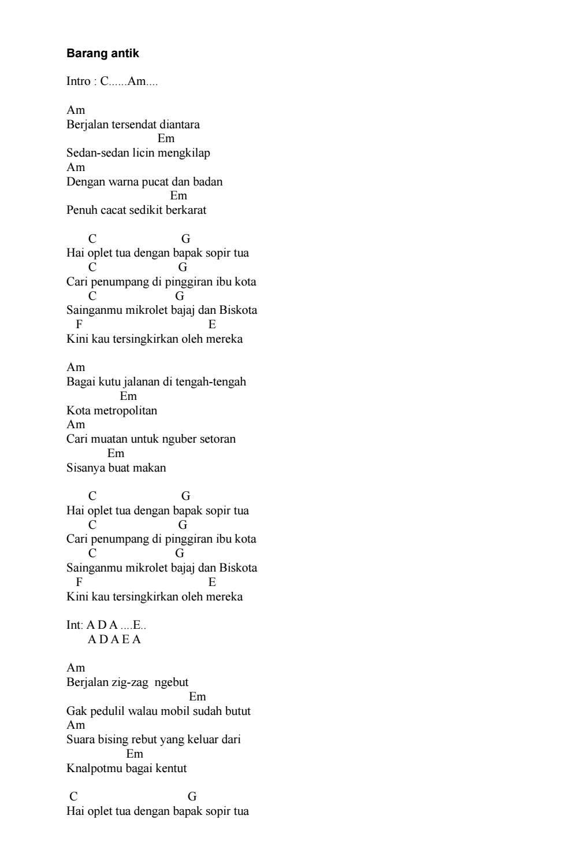 Chord Orang Pinggiran : chord, orang, pinggiran, Kumpulan, Chord, Gitar, Satria, Issuu
