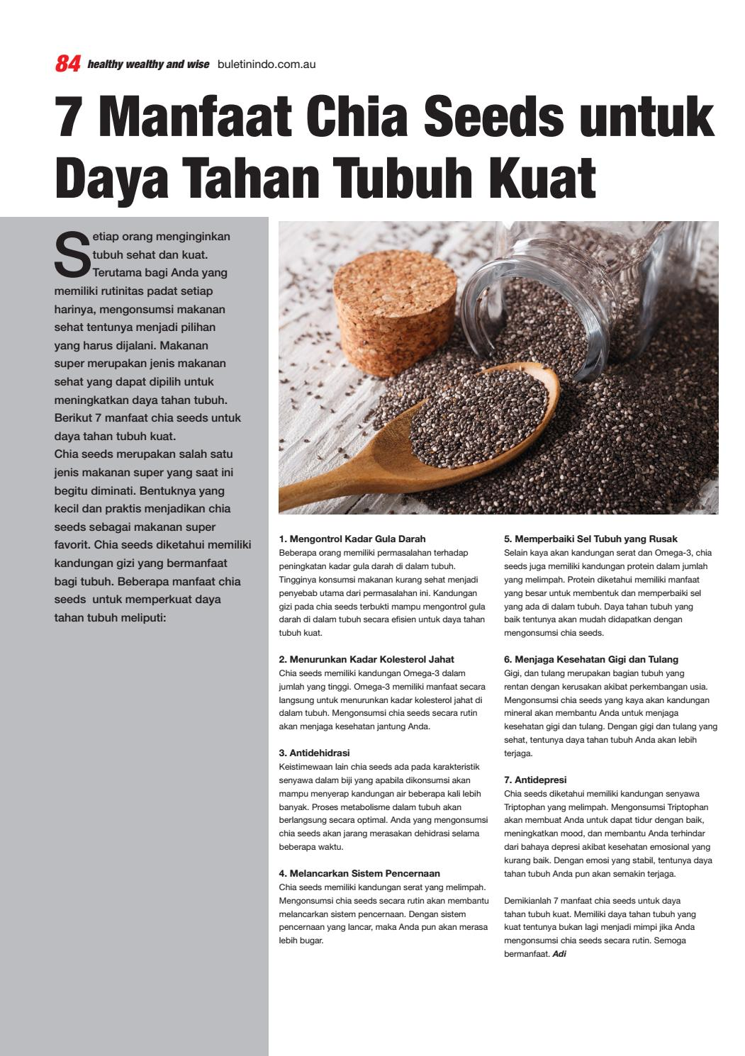 Bahaya Chia Seed : bahaya, Buletin, September, Issuu