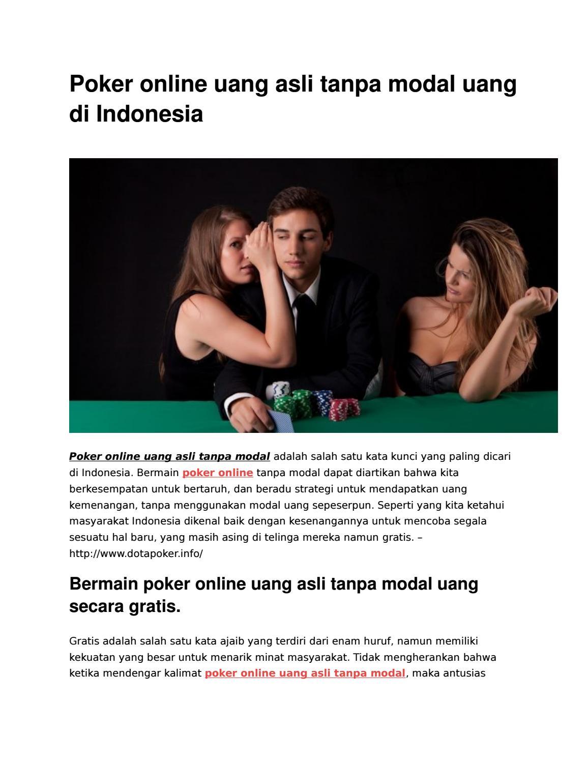 Main Poker Tanpa Modal Dapat Uang : poker, tanpa, modal, dapat, Poker, Online, Tanpa, Modal, Indonesia, Bambi, Issuu