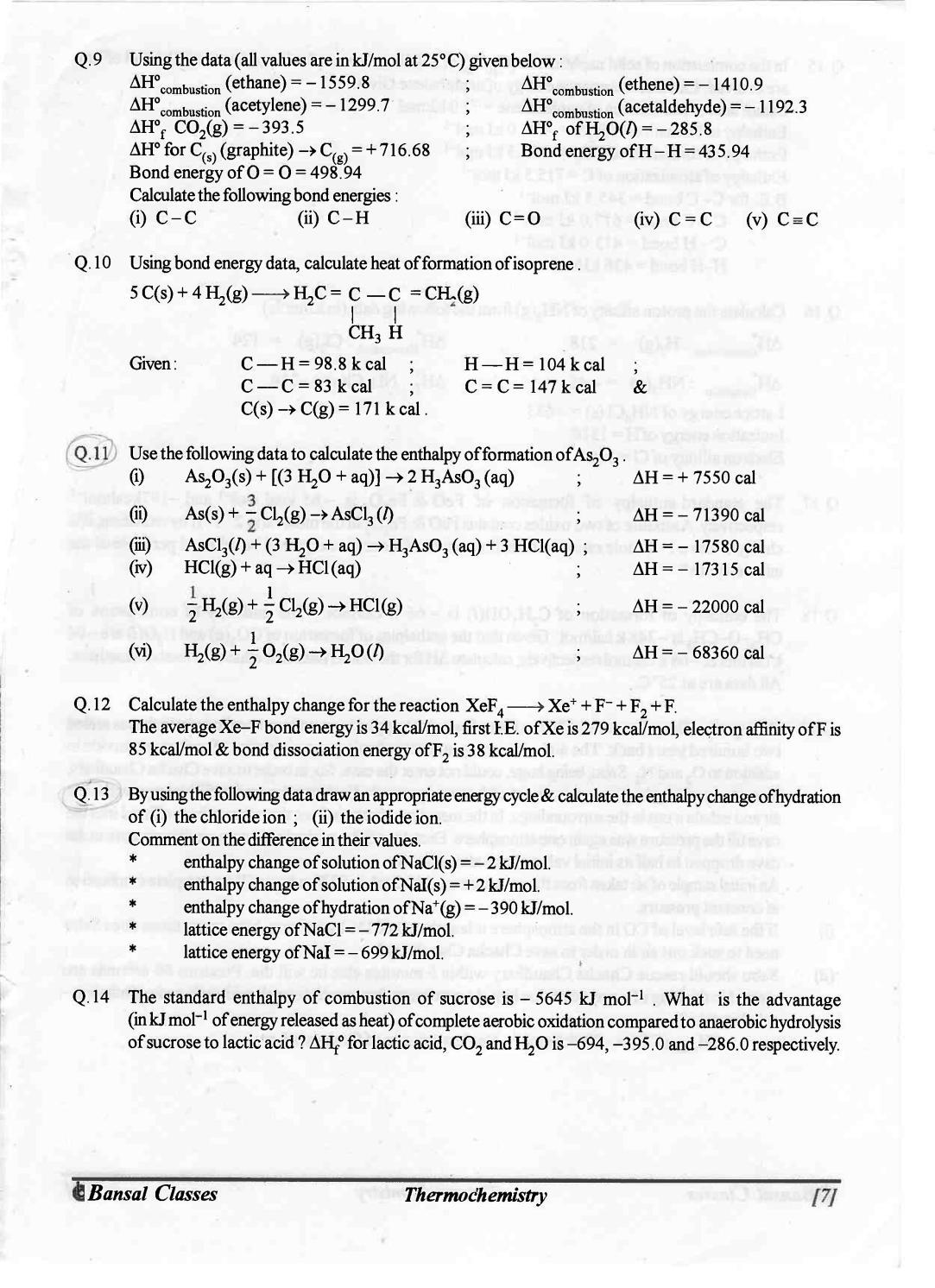 bansal classes chemistry study
