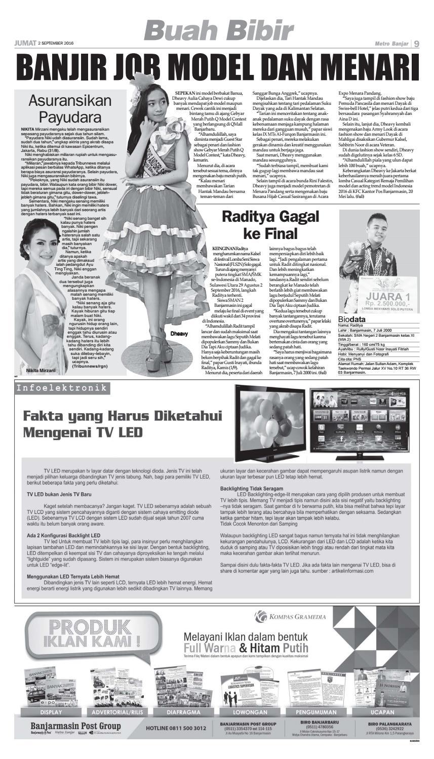 Cara Membersihkan Layar Tv Led : membersihkan, layar, Metro, Banjar, Jumat, September, Harian, Issuu