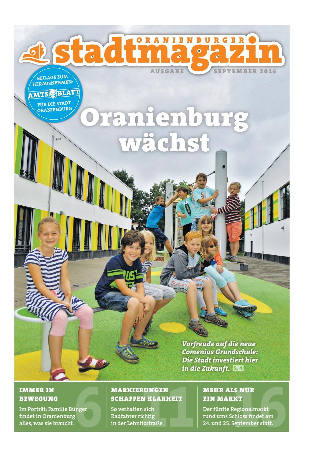 Oranienburger Stadtmagazin (September 2016) By Stadt Oranienburg - Issuu
