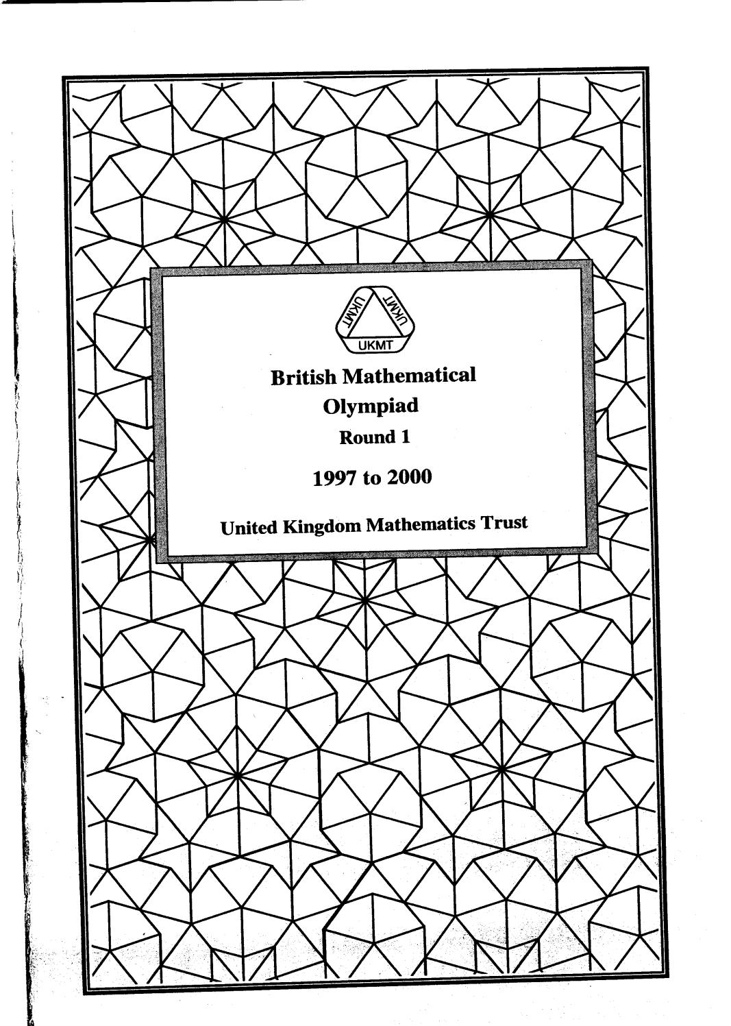British mathematical olympiad round 1 1997 2000 by armando