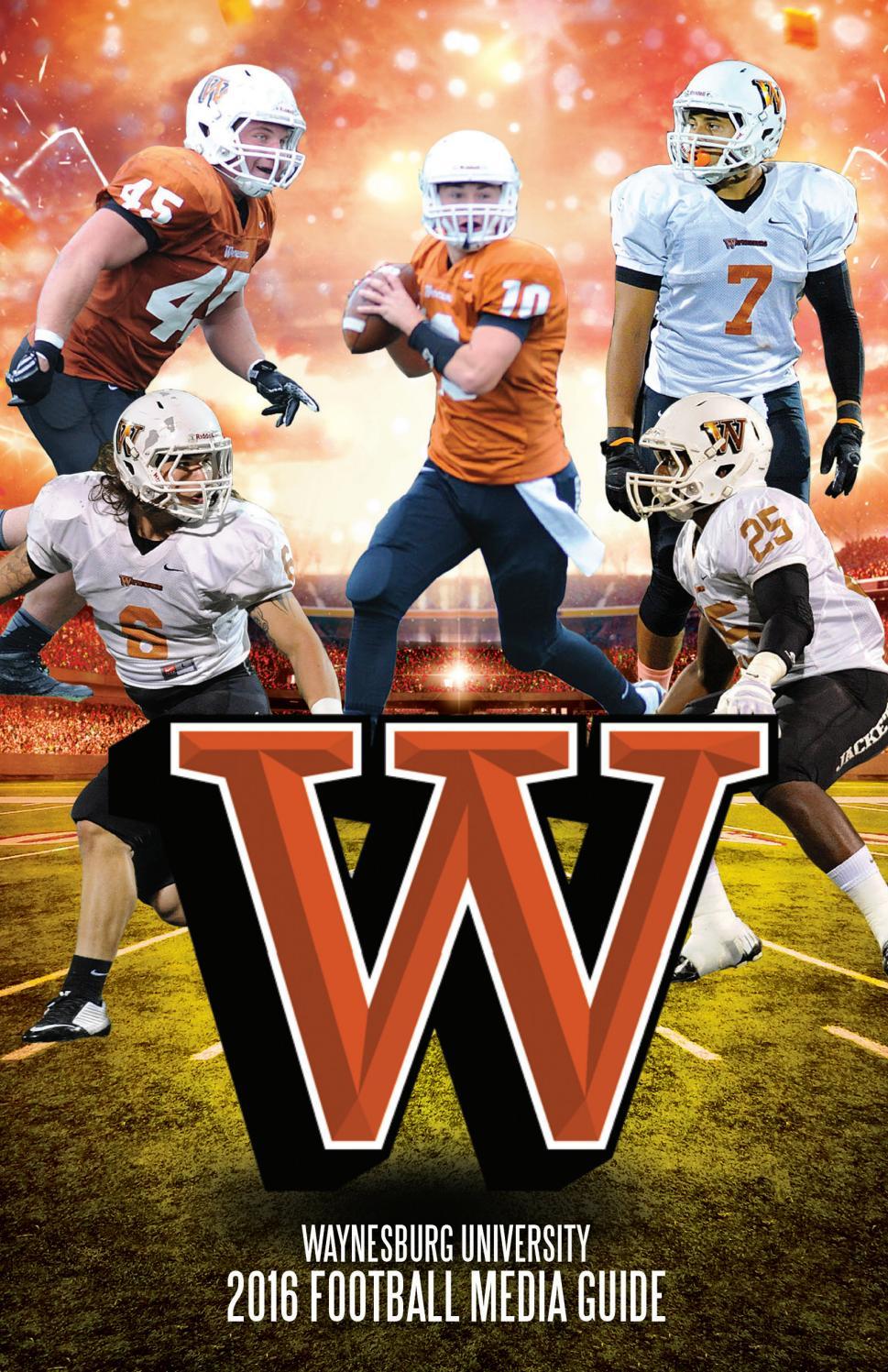 2016 Waynesburg Football Guide by Waynesburg University  Issuu