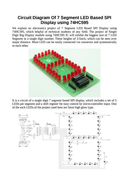 small resolution of circuit diagram of 7 segment led based spi display using 74hc595 by techieshop issuu