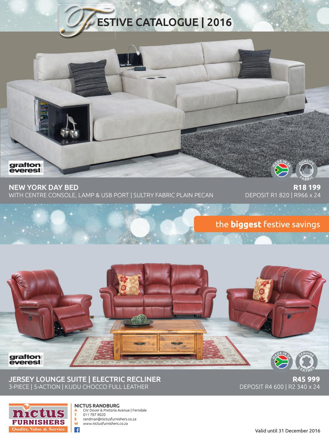 recliner chair bed your covers inc nictus gauteng festive catalogue 2016 by furnishers - issuu