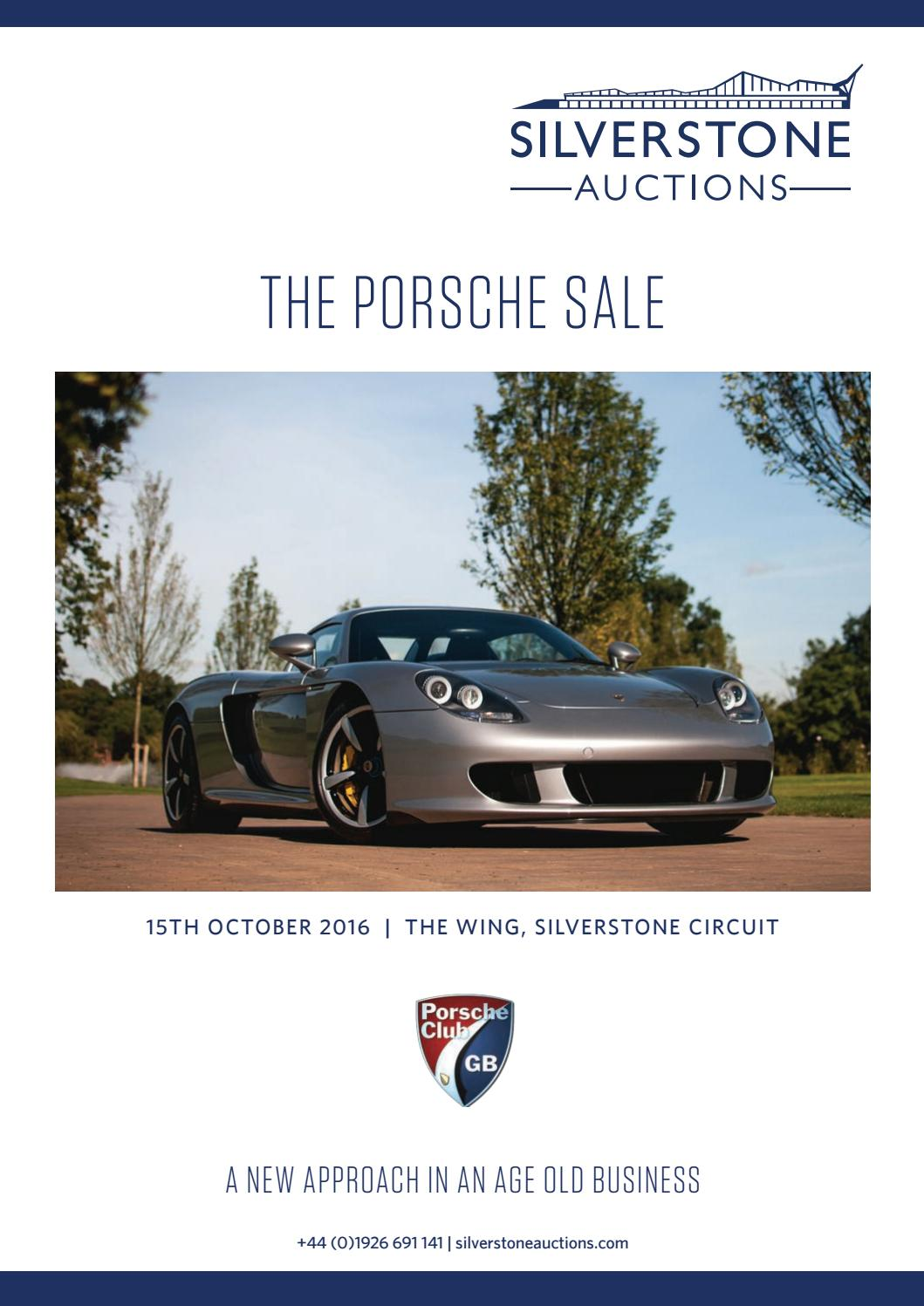 hight resolution of silverstone auctions the porsche sale 15th october 2016 by silverstone auctions issuu