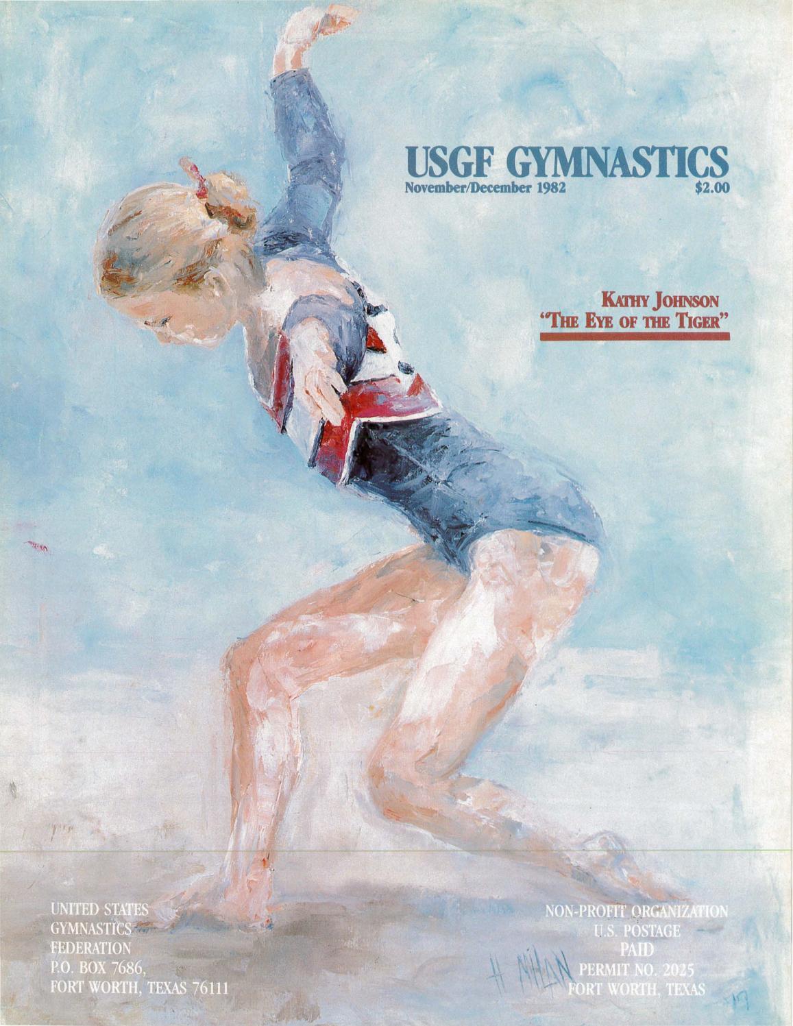 hight resolution of usgf gymnastics november december 1982