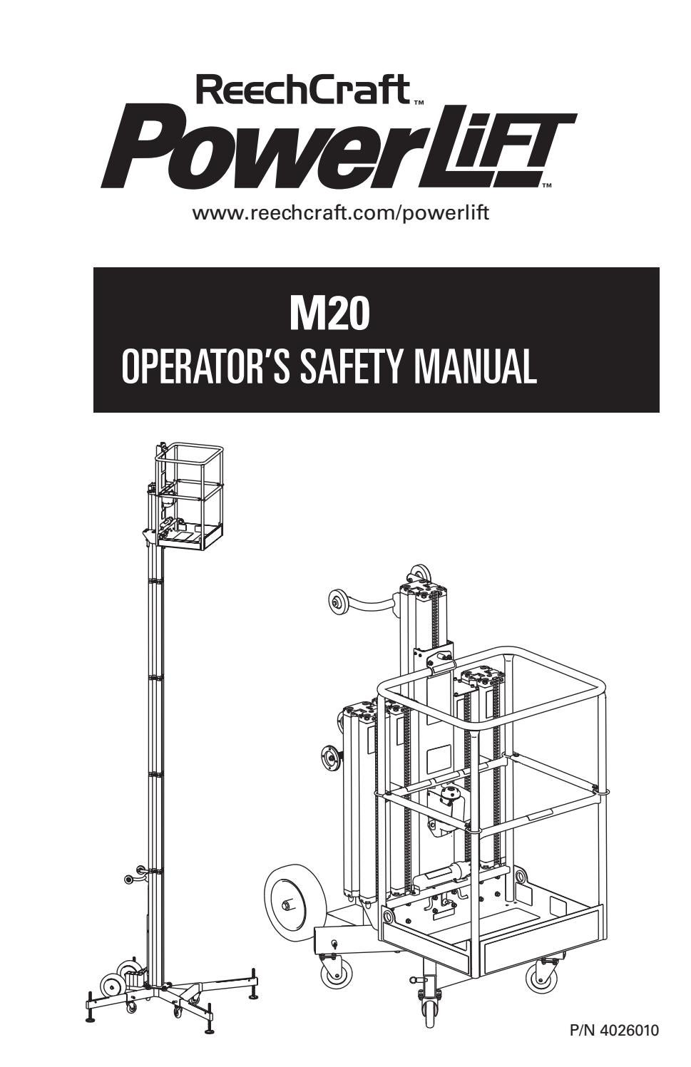 PowerLift M20 Operator's Manual 2015 by ReechCraft Access