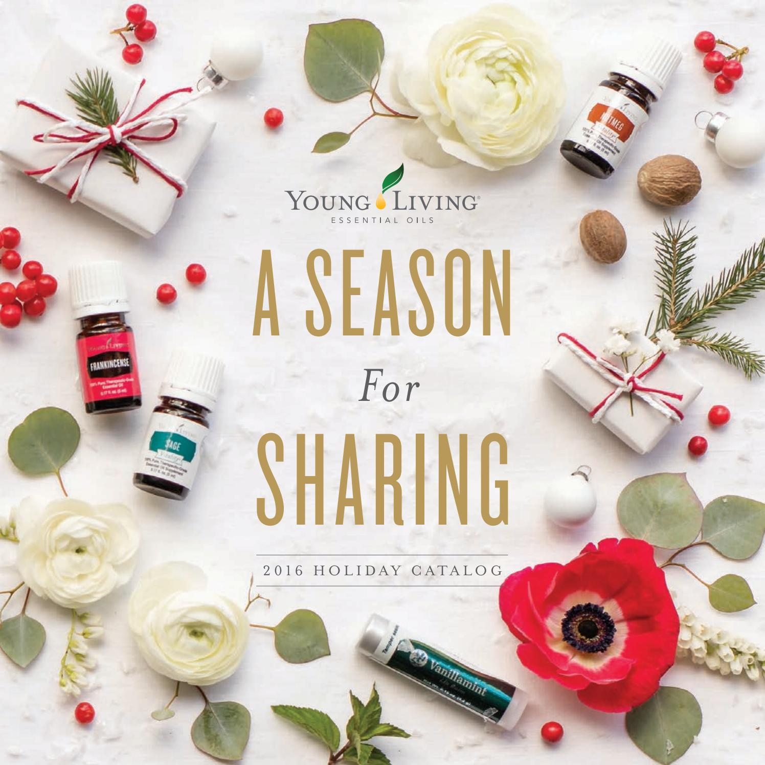 2016 Holiday Catalog By Young Living Essential Oils Issuu