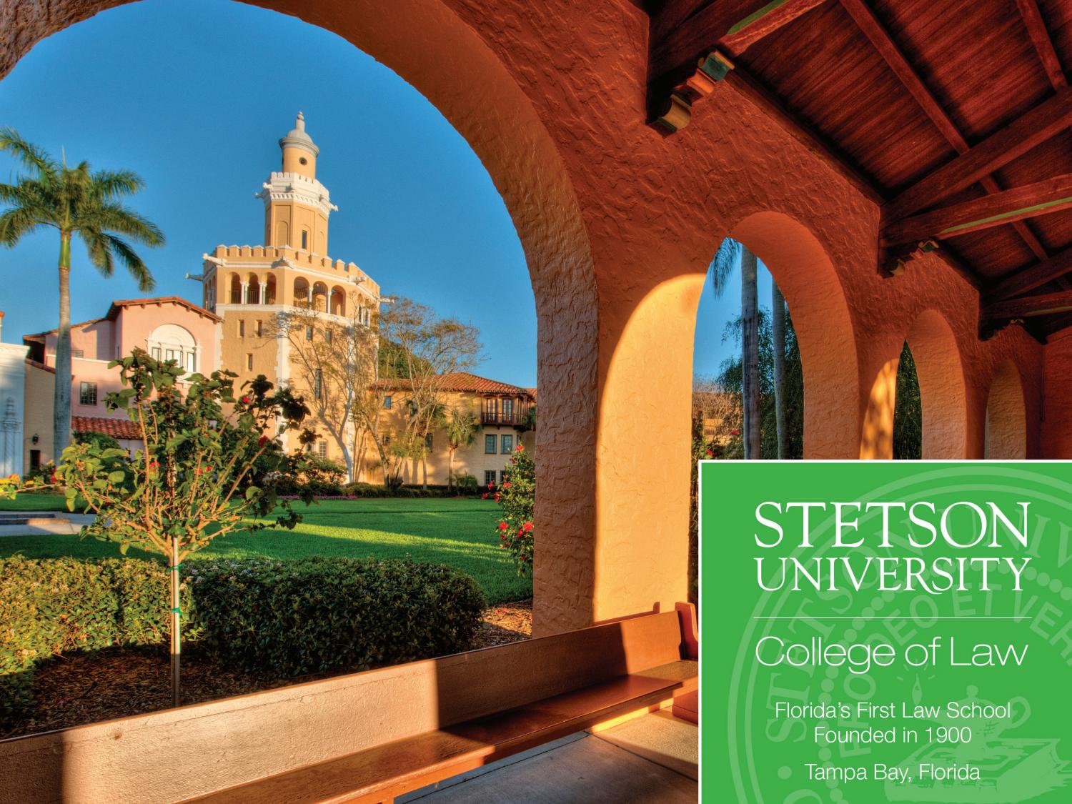 201617 Stetson Law JD Prospectus by Stetson University College of Law  Issuu