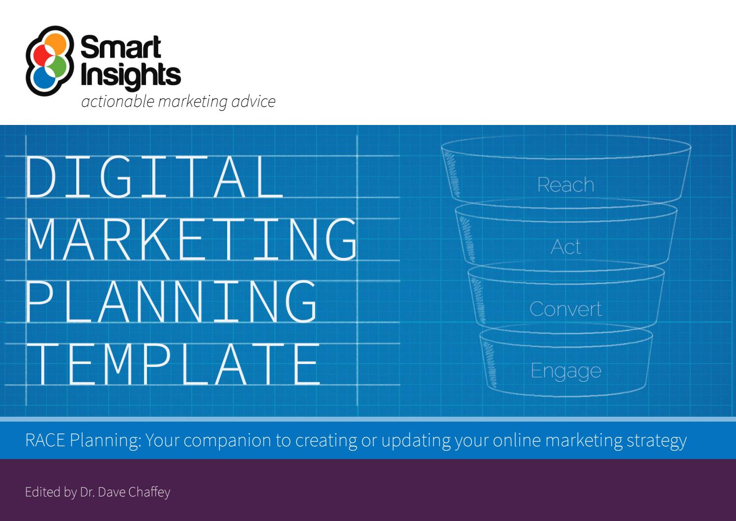 A solid marketing plan is an integral part of the overall business. Digital Marketing Plan Template Smart Insights By Re Schmolze Issuu