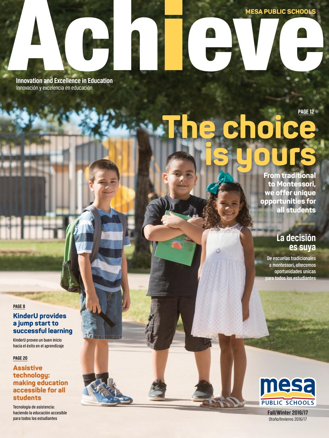Mesa Public Schools  Achieve  Fall 2016 by Republic Media Content Marketing  Issuu