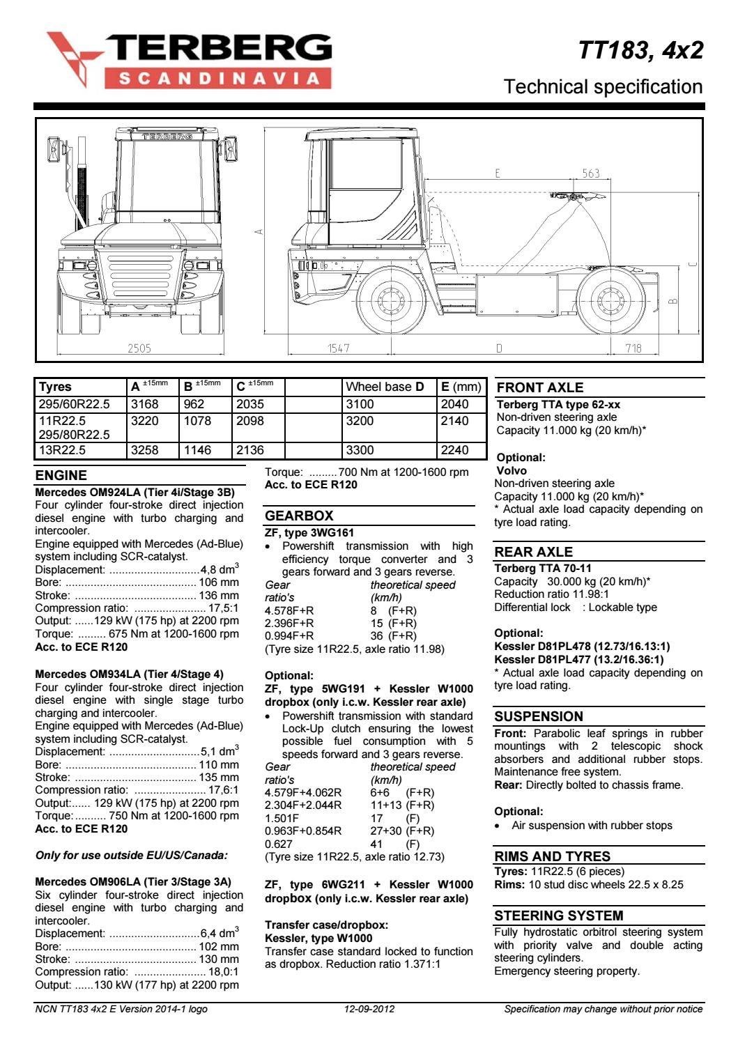 6 5 Diesel Engine Wiring Diagram Datablad Terberg Tt183 Gb By N C Nielsen A S Issuu