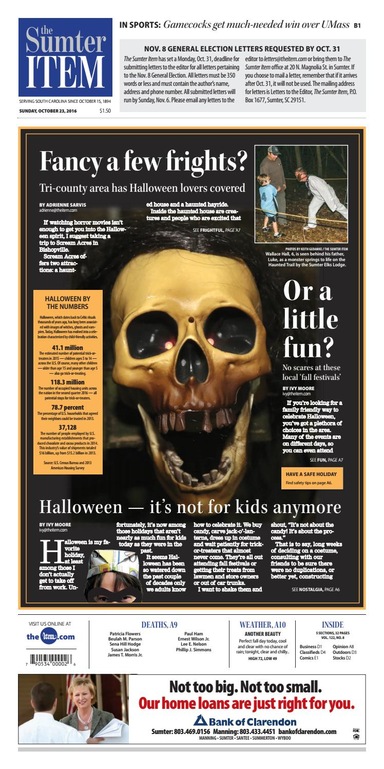 October 23 2016 By The Sumter Item Issuu