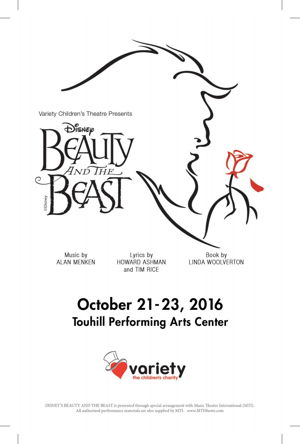 Variety Children's Theatre 2016 Playbill by Variety the