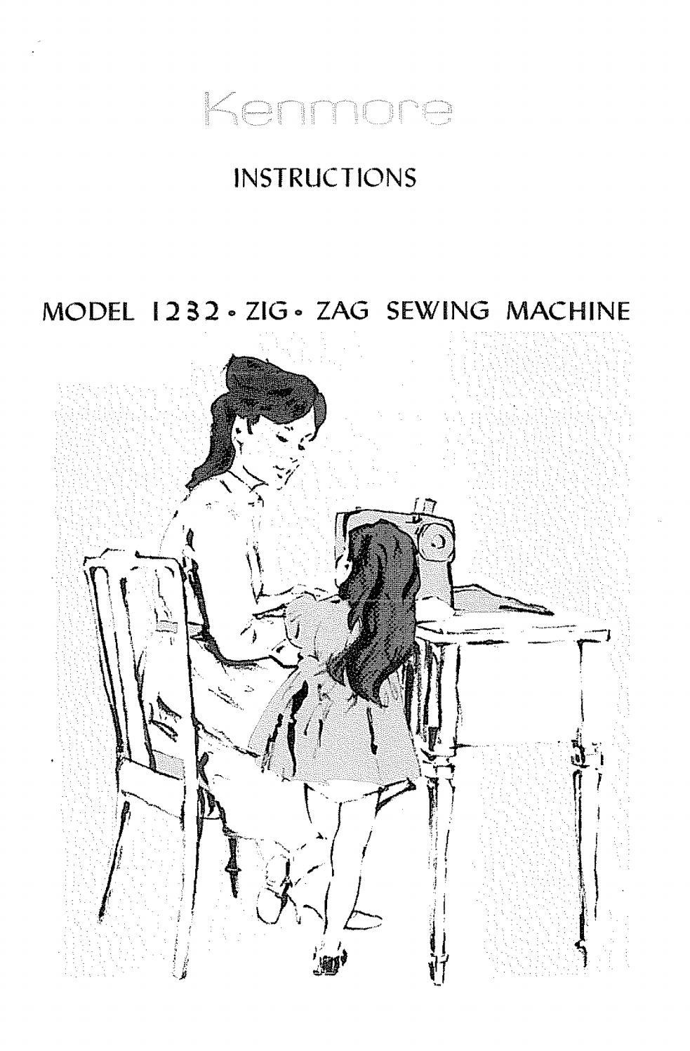 Kenmore 1232 sewing machine user manual by David Mannock