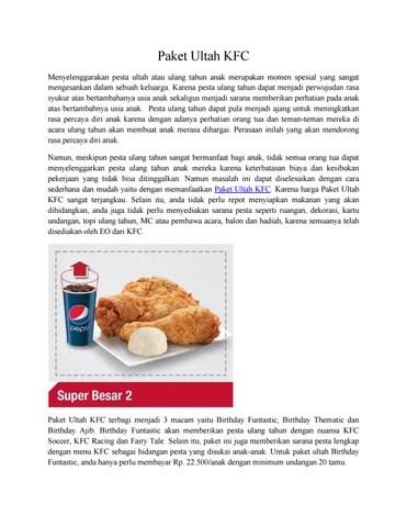 Harga Paket Kfc Ulang Tahun : harga, paket, ulang, tahun, Paket, Ultah, Indonesia, Travelmaker, Issuu