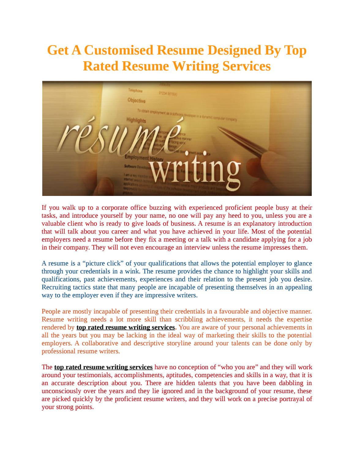 Best Rated Resume Writing Services Top Rated Resume Writing Services Mentat By The Mentat Issuu