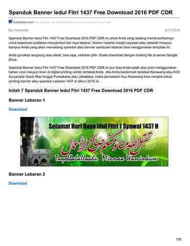 Selamat Hari Raya Idul Fitri Cdr : selamat, fitri, Masbadar, Spanduk, Banner, Iedul, Fitri, Download, Issuu