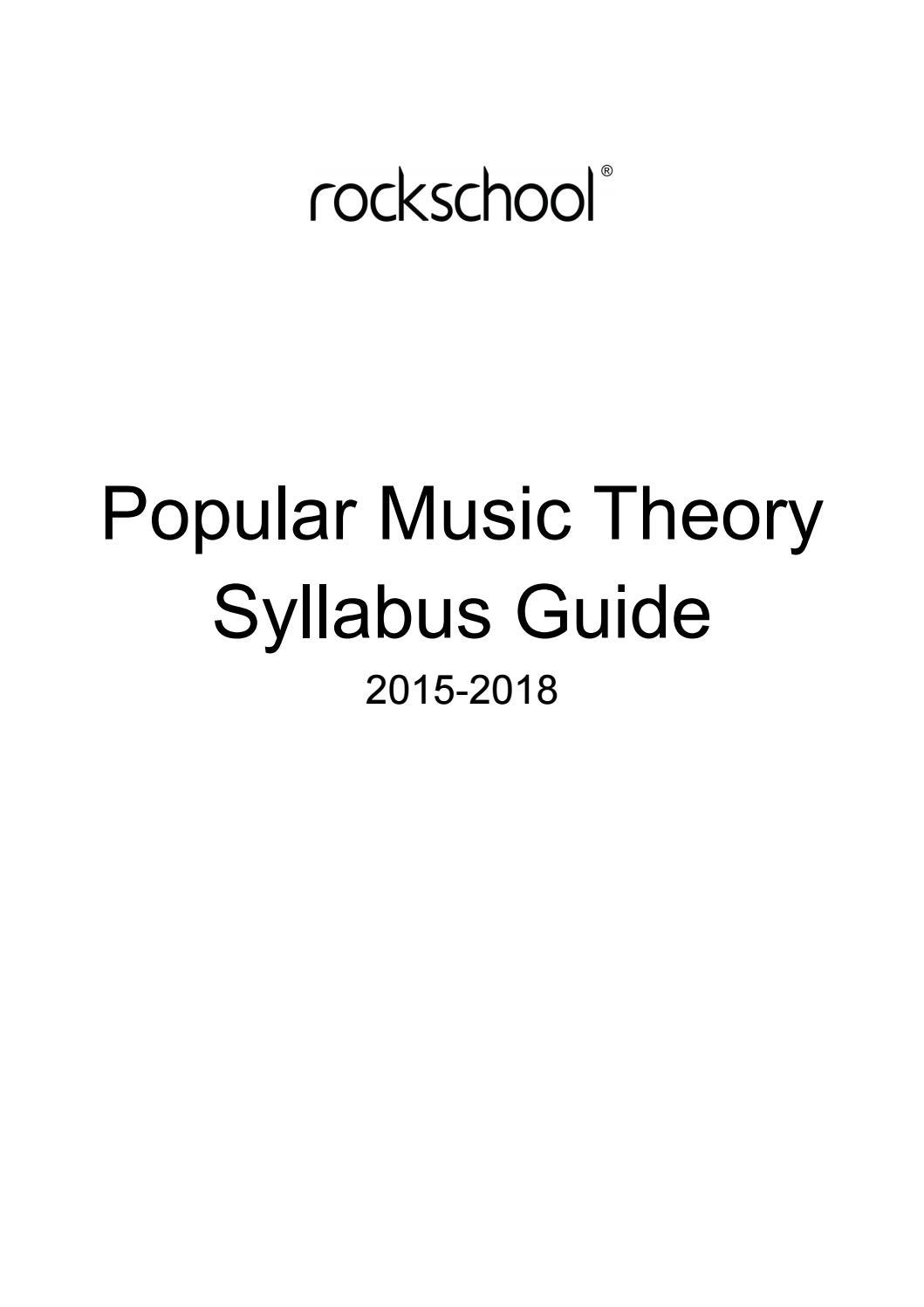 Rockschool popular music theory syllabus 2015 18 by Armoni