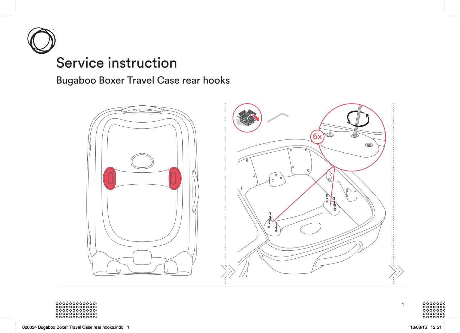 bugaboo boxer travel case rear hooks service instructions