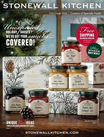 stonewall kitchen com sets on sale gift guide 2016 by issuu page 1
