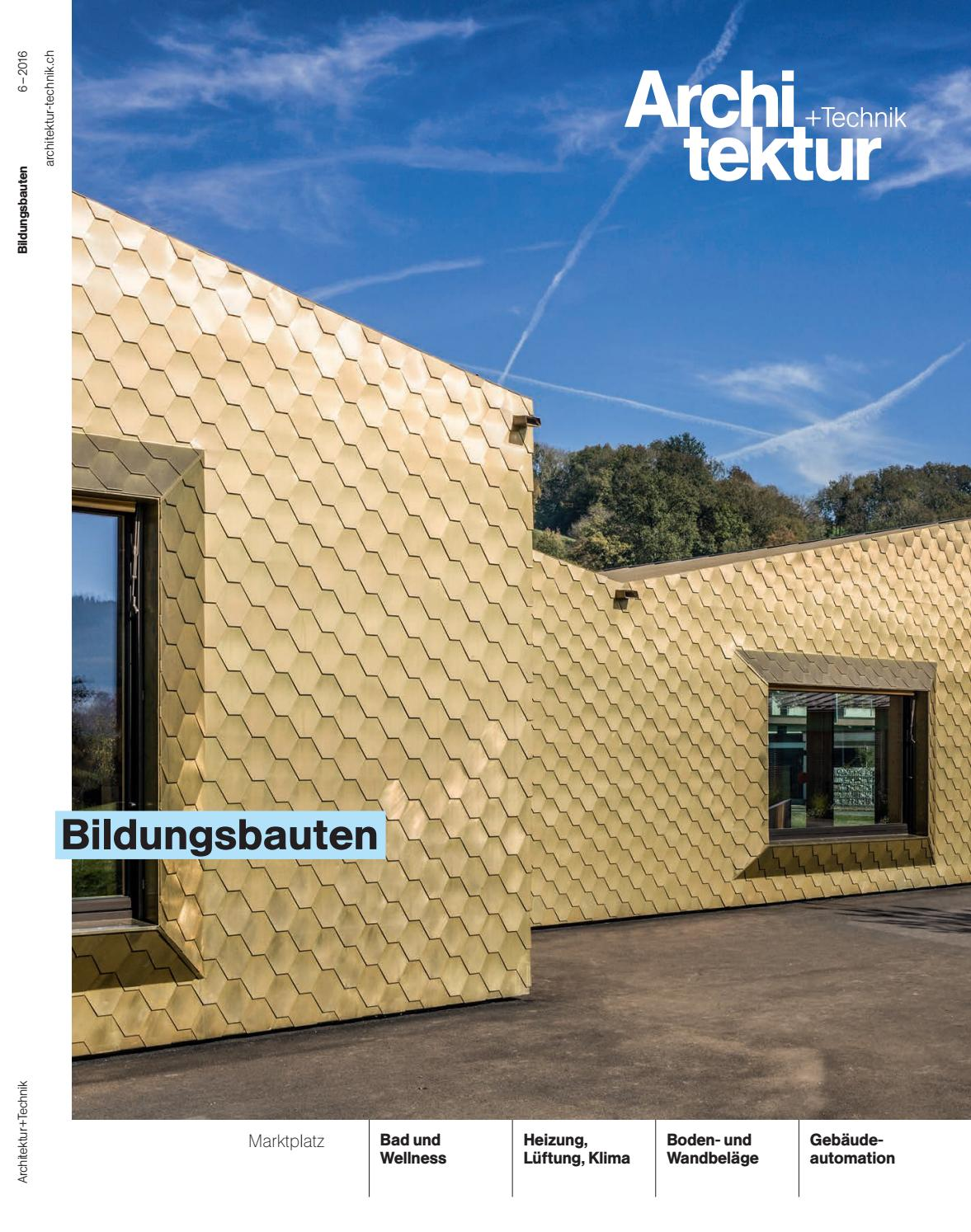 Anthrazit Fenster Welche Hausfarbe Architektur+technik 06 2016 By Bl Verlag Ag - Issuu