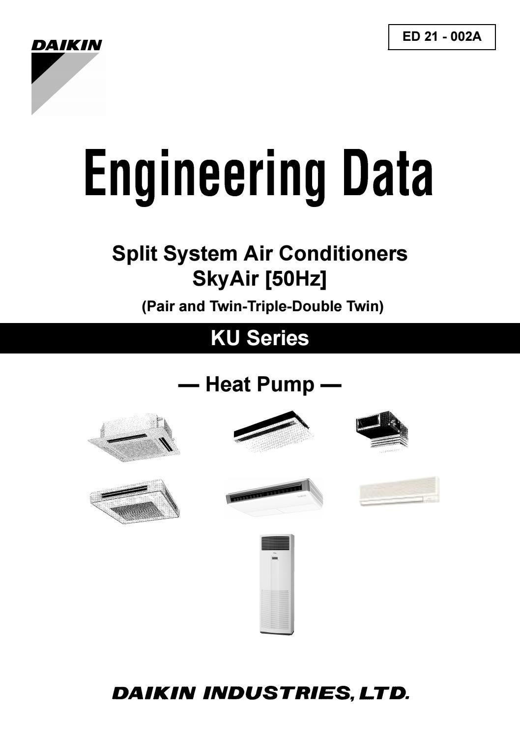 Daikin engineering data split ,skyair ku (fhyc kve,fhy bve