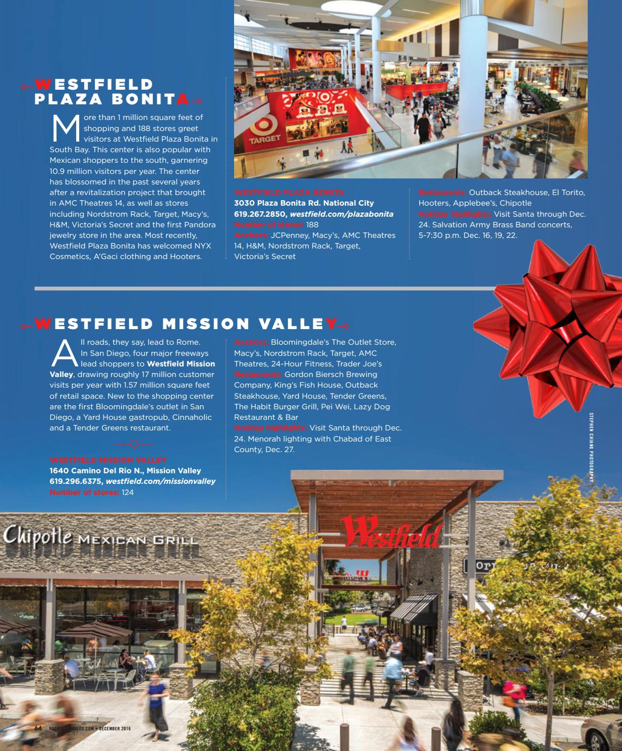 Mission Valley Shopping Center : mission, valley, shopping, center, PACIFIC, Diego,, December, Pacific, Diego, Magazine, Issuu