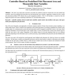 synthesis of discrete steady state error free modal state controller based on predefined pole placem by engineering journal ijoer issuu [ 1059 x 1497 Pixel ]
