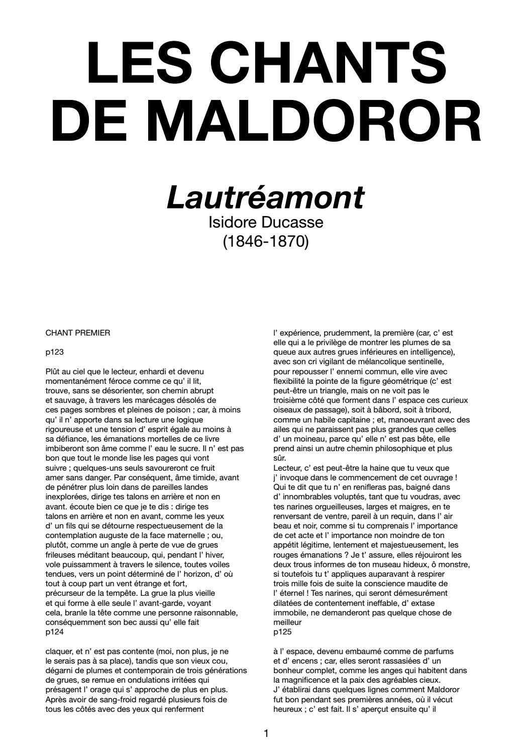 Truc Comment Anéantir Les Ronces : comment, anéantir, ronces, CHANTS, MALDOROR, Lautréamont, Isidore, Ducasse, Casserdesbriques.com, Issuu
