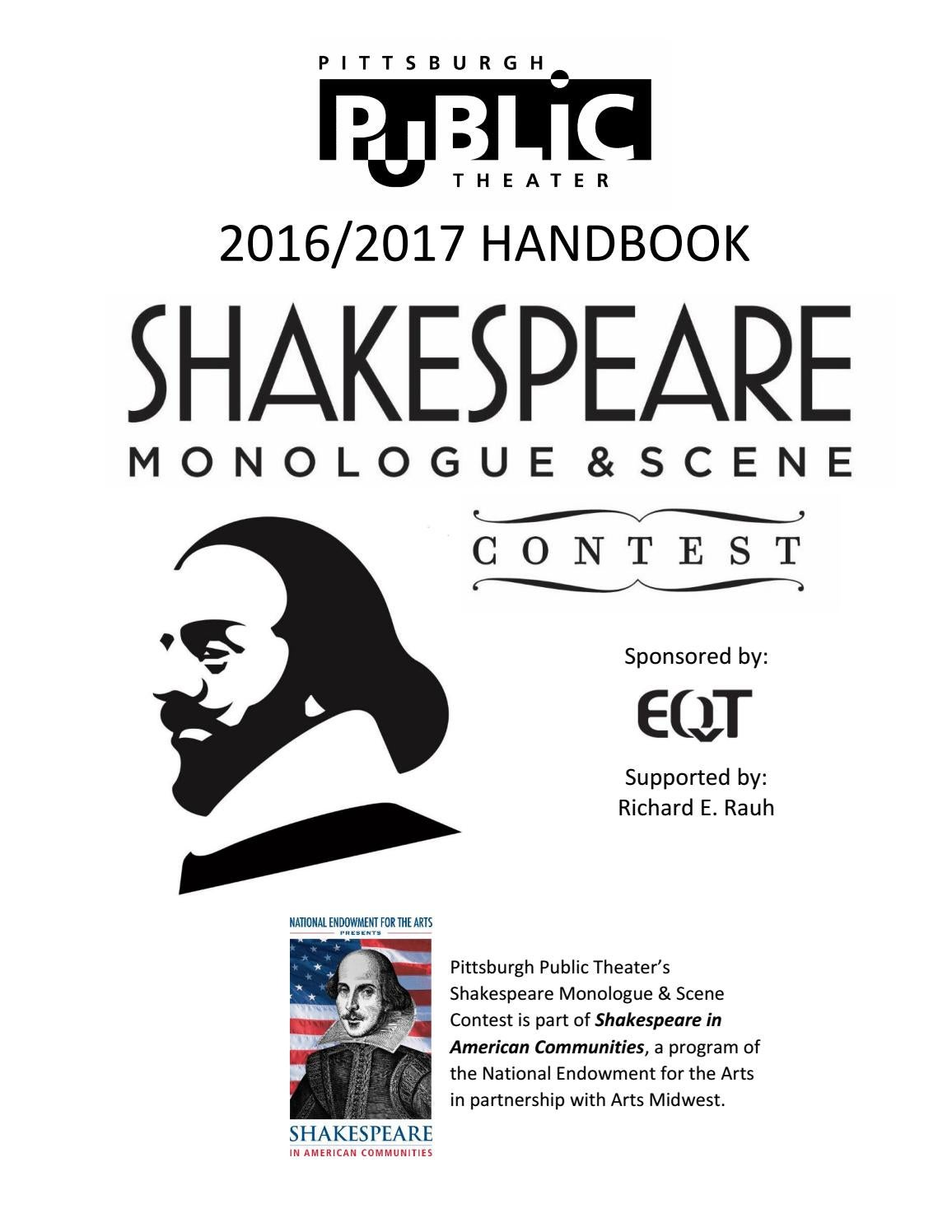 Shakespeare Contest Handbook 2017 by Pittsburgh Public