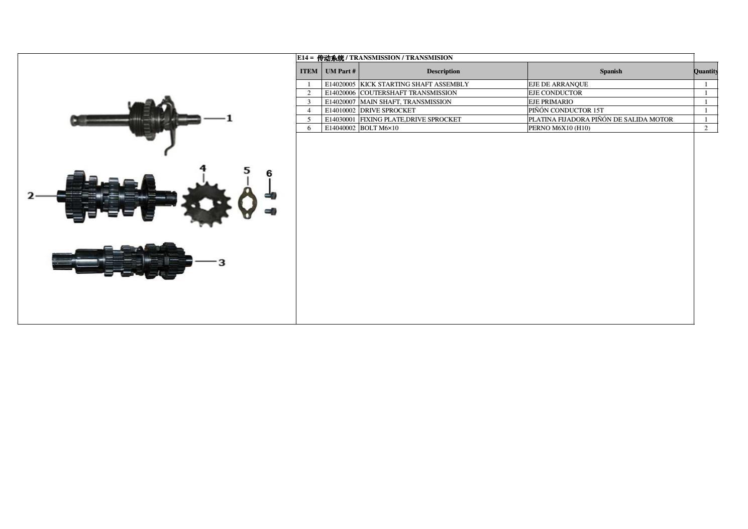 Platina Diagram Motor | Diagrama de fiação elétrica