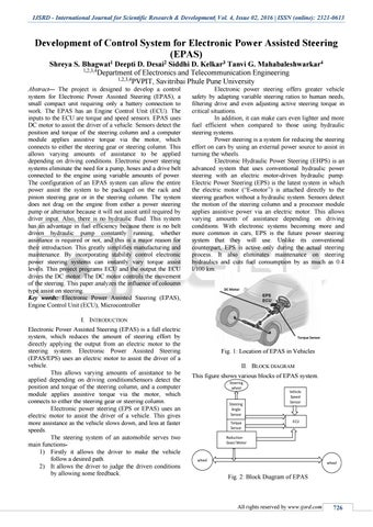 Development of Control System for Electronic Power