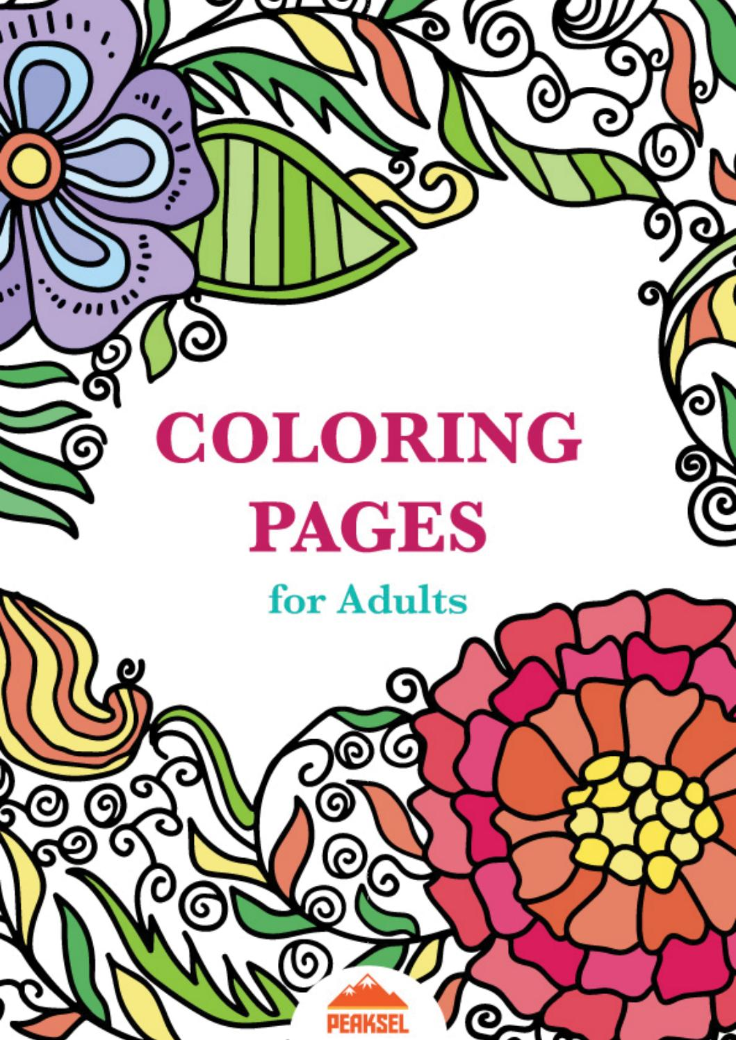 Coloring Pages for Adults - Free Adult Coloring Book by ... | free printable colouring pages for adults