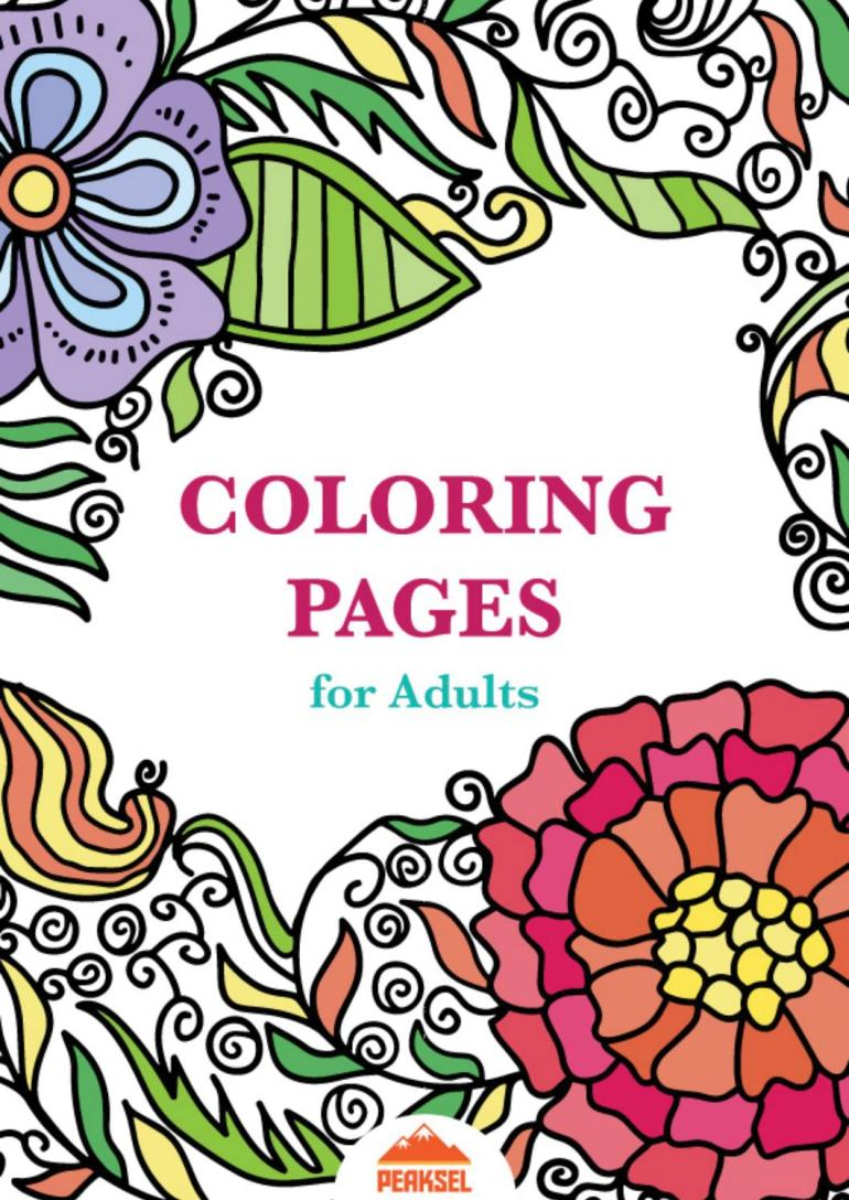 Coloring Pages for Adults - Free Adult Coloring Book by ... | free printable coloring pages for adults