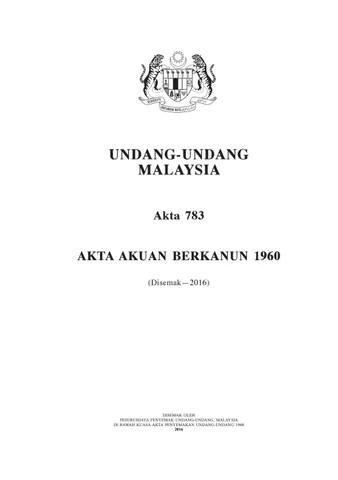 AKTA AKUAN BERKANUN 1960 PDF