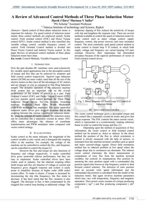 small resolution of a review of advanced control methods of three phase induction motor