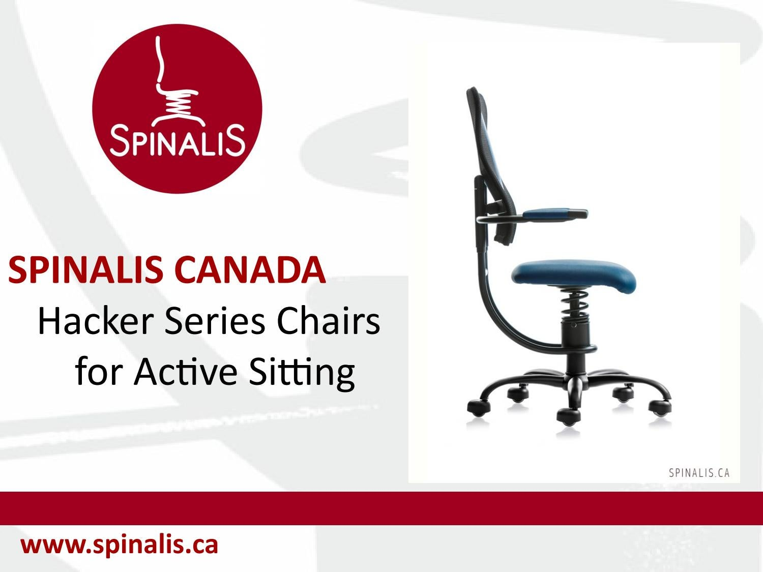 Active Sitting Chair Spinalis Canada Hacker Series Chairs For Active Sitting