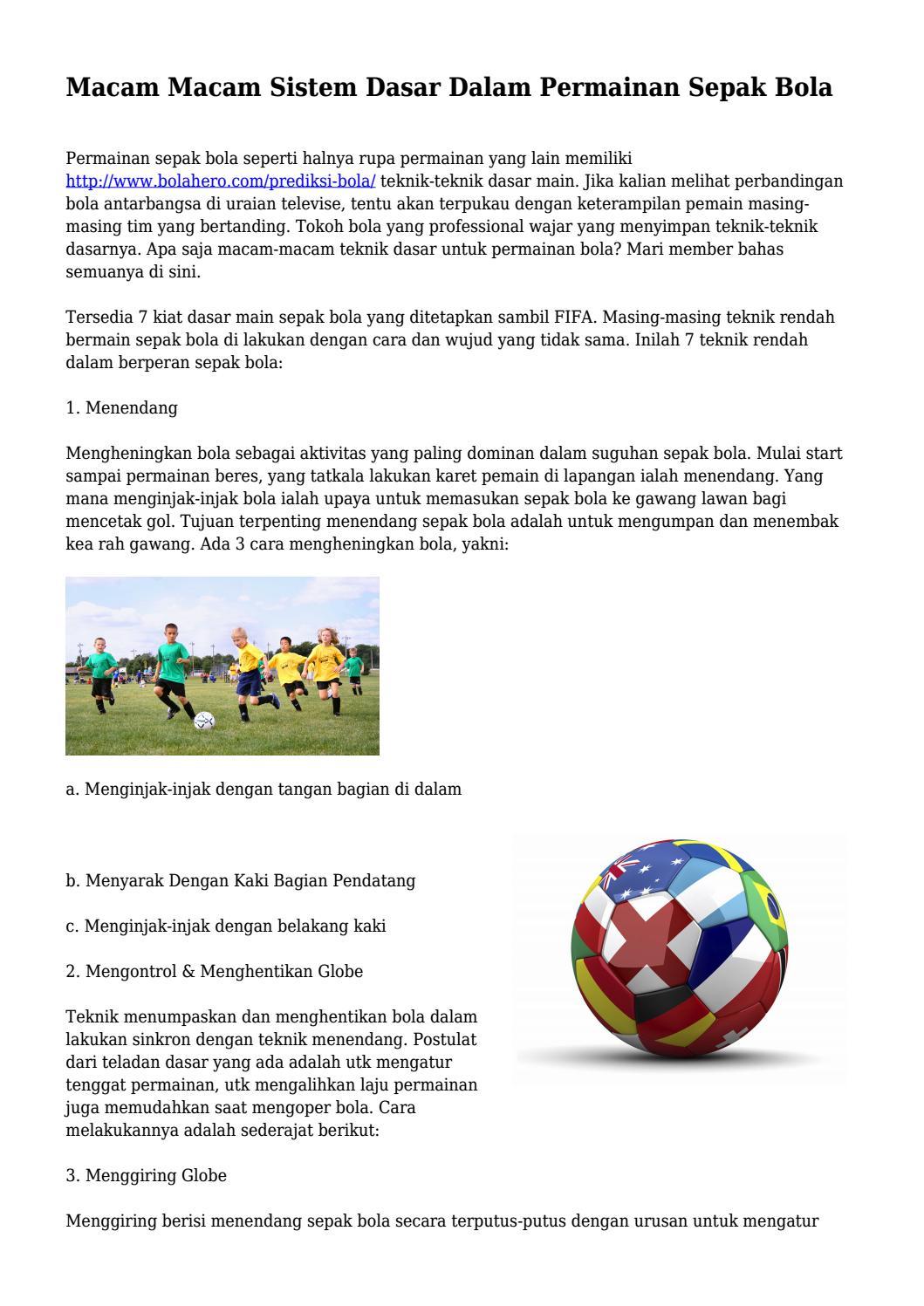 Teknik Dasar Pemain Sepak Bola : teknik, dasar, pemain, sepak, Macam, Sistem, Dasar, Dalam, Permainan, Sepak, Bola..., Guruinfobagus, Issuu