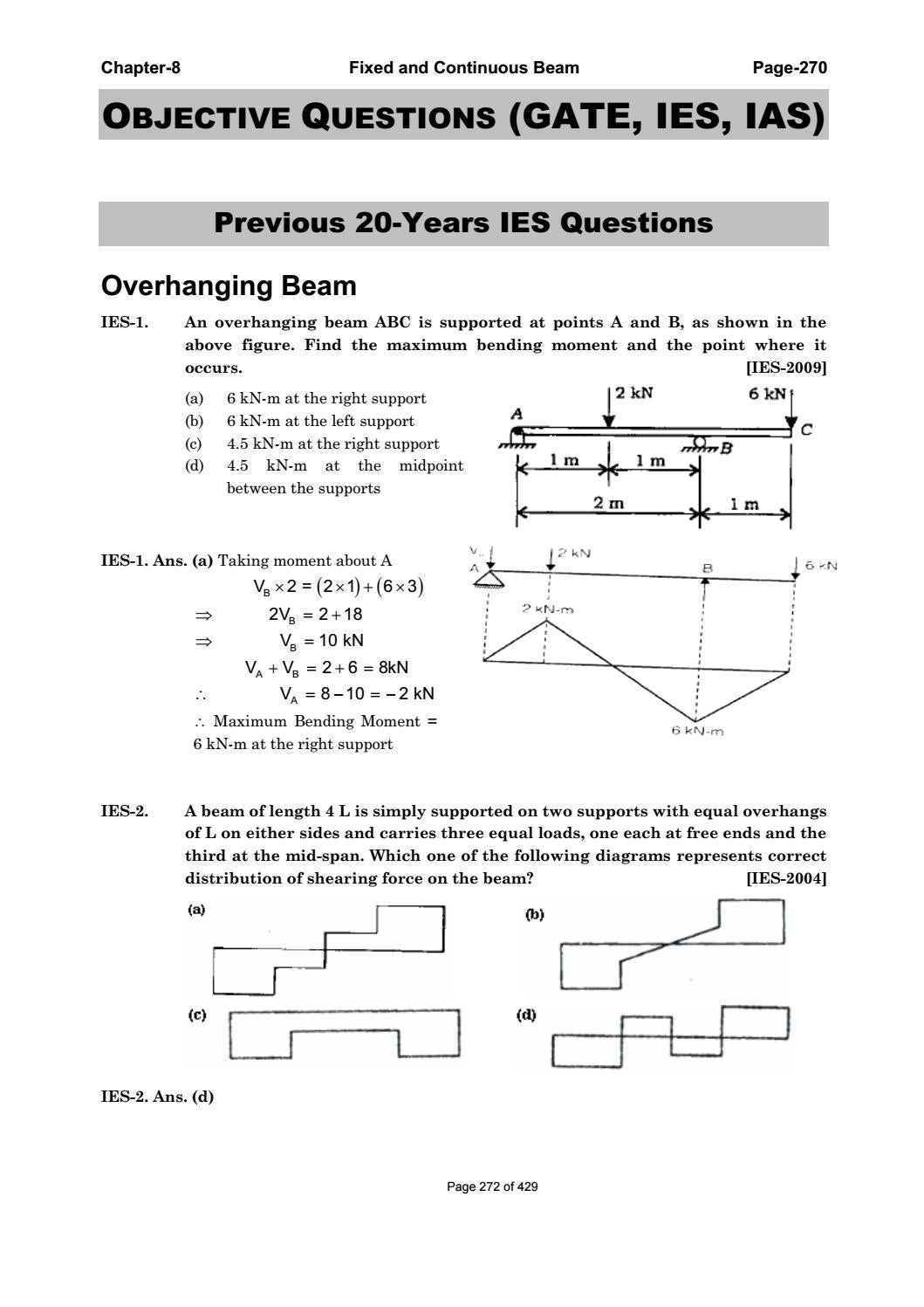 Sfd Bmd Gate Questions : questions, Strength, Materials, Mondal, S.Dharmaraj, Issuu